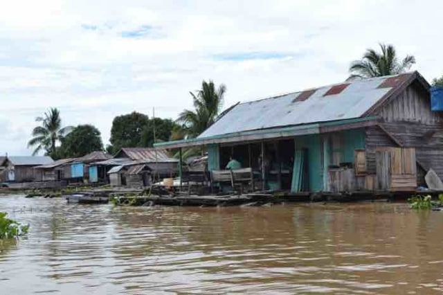 rumah lanting di Banjarmasin